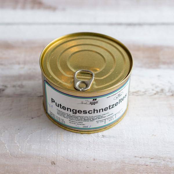 Putengeschnetzeltes in der Dose