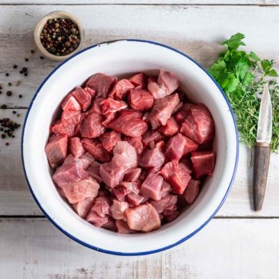 Kachler Hoferer, Gulasch gemischt, Schwein, Rind